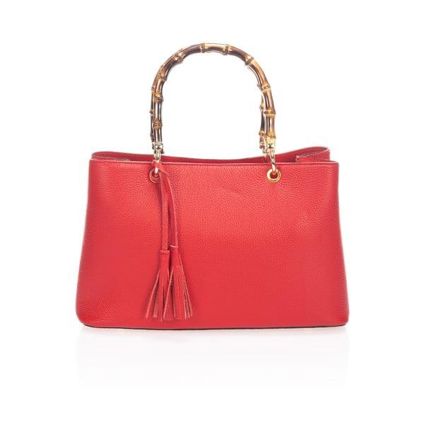 Skórzana torebka Markese 5028 Red