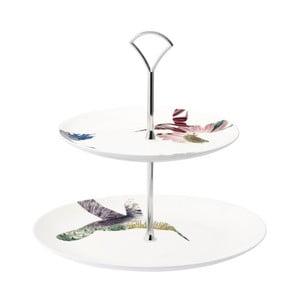 Dwupoziomowa porcelanowa patera Flutter
