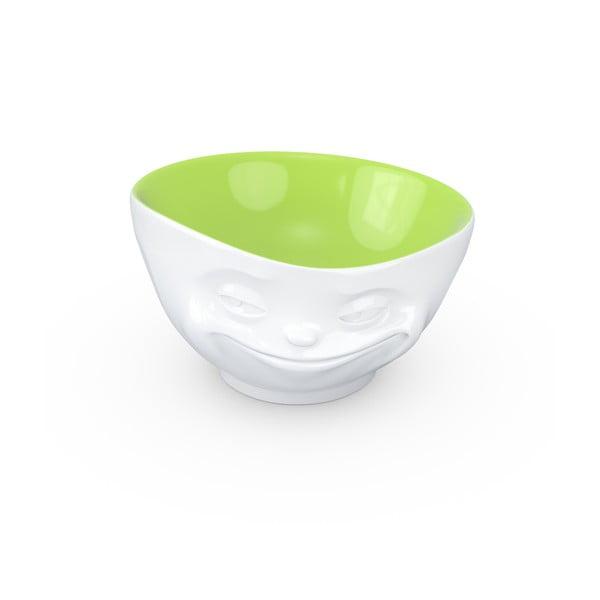 Biało-pistacjowa uśmiechnięta miska 58products