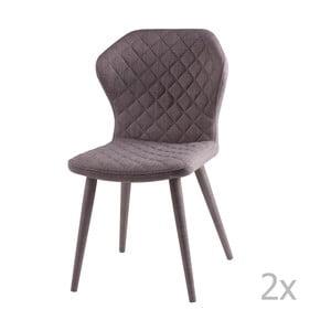 Zestaw 2 szarych krzeseł sømcasa Avery