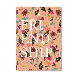 Plakat (projekt: Mia Charro) - Friendship