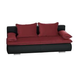 Czarno-różowa sofa rozkładana Cachemire