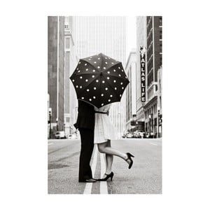 Obraz Black&White Rainy Love, 45x70 cm