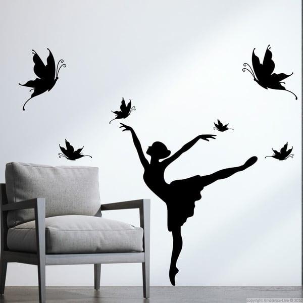 Naklejka Ambiance Woman and Butterflies