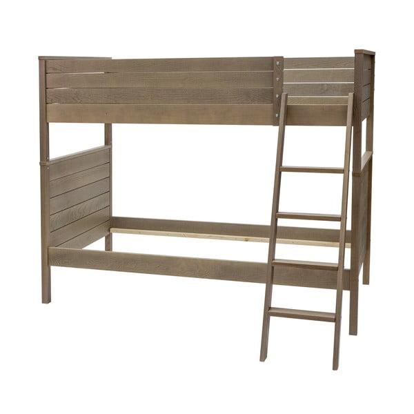 Ciemne łóżko piętrowe Woodman Woody, 90x200 cm