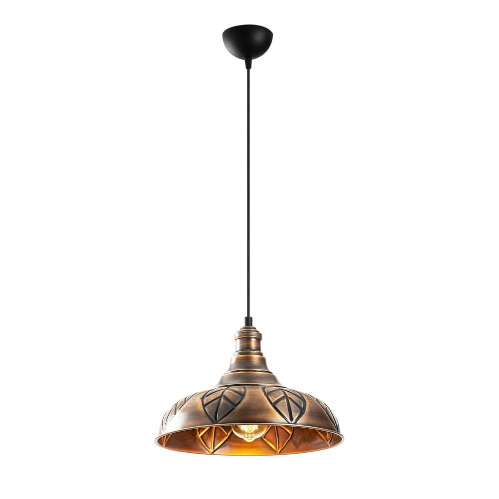 Metalowa lampa wisząca w kolorze miedzi Opviq lights Philip