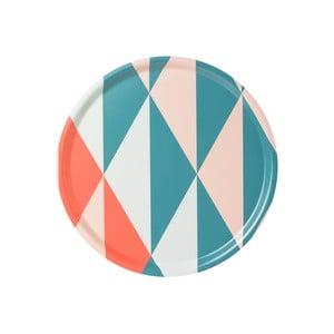 Taca ze wzorem geometrycznym, różowa
