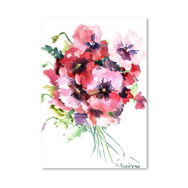 Plakat Pink Pansies (projekt Suren Nersisyan)