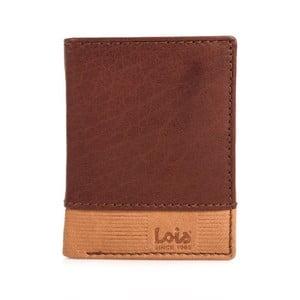 Skórzany portfel Lois Brownie, 8,5x10,5 cm