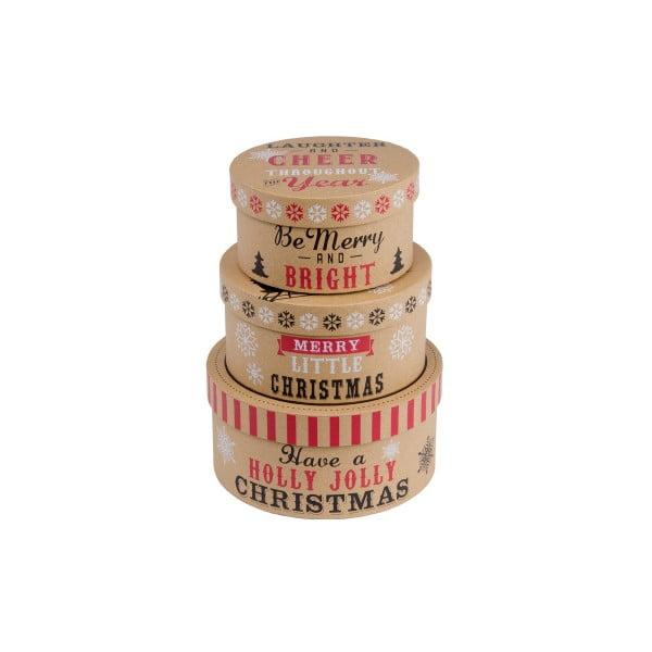 Zestaw 3 szt. owalnych pudełekTri-Coastal Christmas Cookie