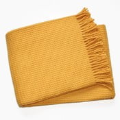 Koc Waffel Saffron Yellow, 140x180 cm