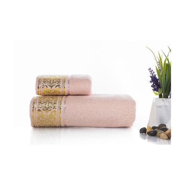 Zestaw 2 ręczników Flora V1, 30x50 cm + 50x90 cm