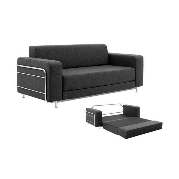 Ciemnoszara sofa rozkładana Softline Silver