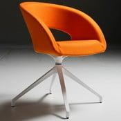 Pomarańczowe krzesło biurowe Que Five Zago