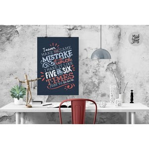 Plakat The Same Mistake, A3