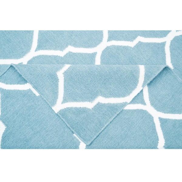 Jasnoniebieski dywan wełniany Bakero Caroline, 120x80 cm
