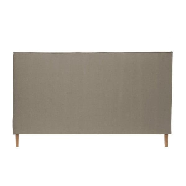 Jasnobrązowe łóżko z naturalnymi nóżkami Vivonita Kent, 140x200 cm