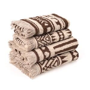 Komplet 4 ręczników bawełnianych Casa Di Bassi Rabat