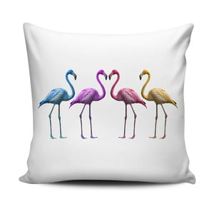 Poduszka Home de Bleu Colored Flamingos, 43x43 cm
