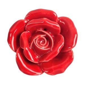 Ceramiczna gałka do mebli Peony Red
