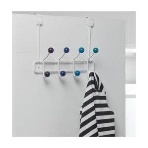 Niebieski wieszak na drzwi z 8 haczykami Compactor Colorful