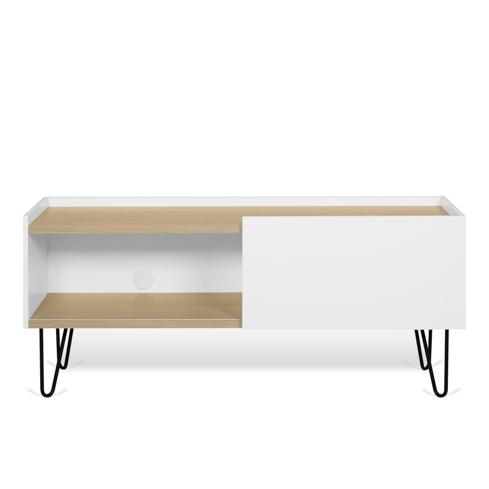 Biała komoda z półkami i drzwiczkami TemaHome Nina, 140x59 cm