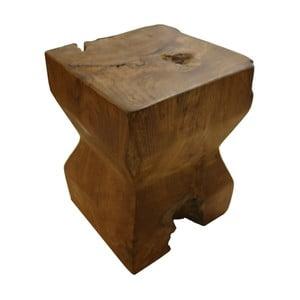Stołek z drewna tekowego HSM Collection Pion