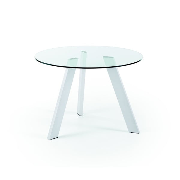 Stół s białymi nogami La Forma Columbia, średnica 110cm