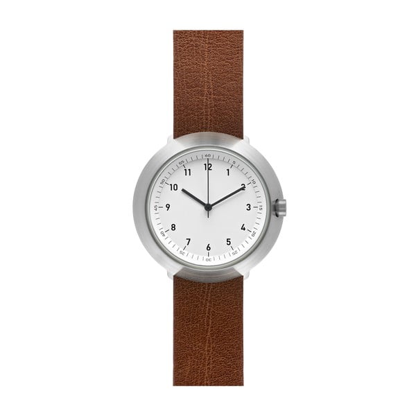 Zegarek White Fuji Brown Leather, 43 mm