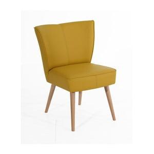 Żółty fotel Max Winzer Beni Imitation