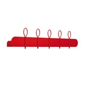 Czerwony wieszak ścienny z 4 haczykami i półką MEME Design Balloon