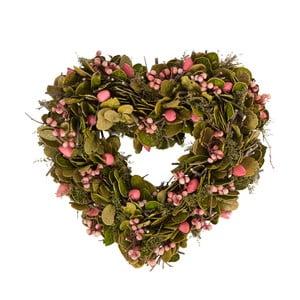 Wieniec z suszonych kwiatów Berry Heart, 30 cm