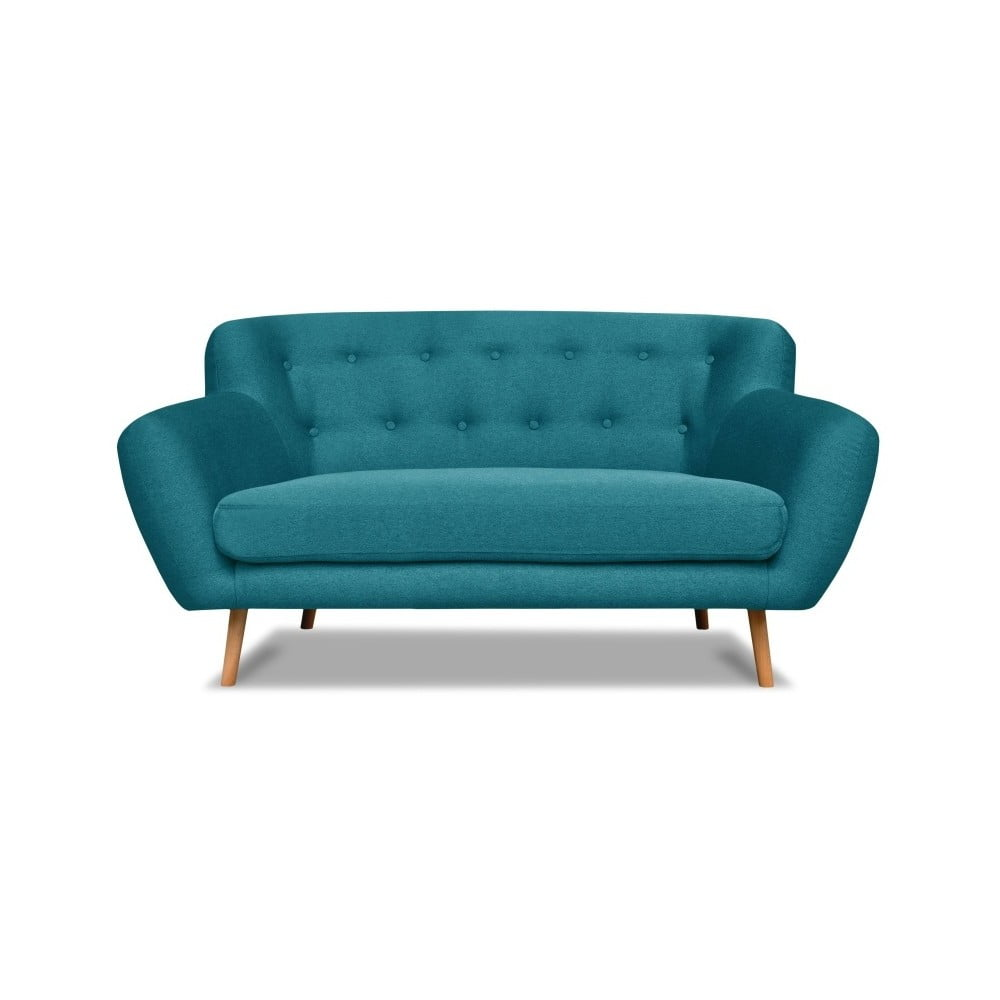 Turkusowa sofa Cosmopolitan design London, 162 cm