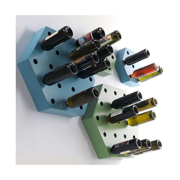 Stojak na wino Hexagon Maxi, złoty