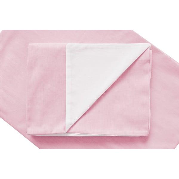 Różowa pościel Hawke&Thorn Parker Simple, 240x220 cm + 2xpoduszka 50x60 cm
