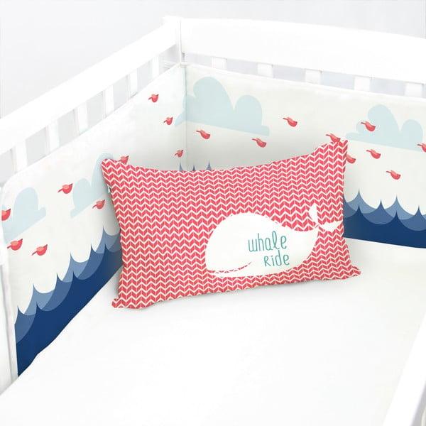 Ochraniacz do łóżeczka Whale Ride, 60x60x60 cm