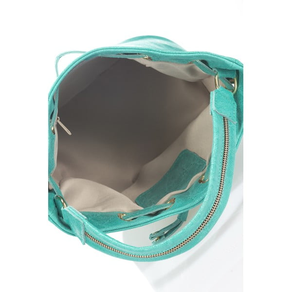 Skórzana torebka Prisha, turkusowa