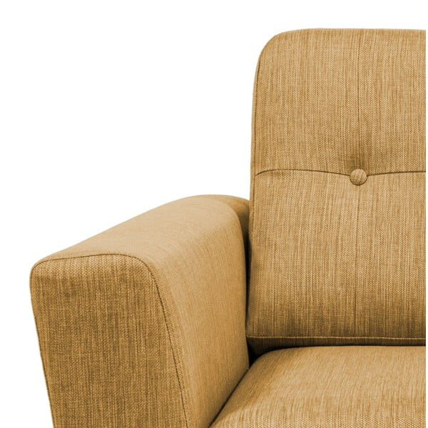 Musztardowa sofa 3-osobowa Vivonita Harlem XL