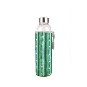 Szklana butelka w neoprenowym pokrowcu Kikkerland Cactus, 600 ml