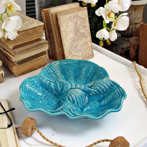 Niebieski talerz dekoracyjny Orchidea Milano Venice