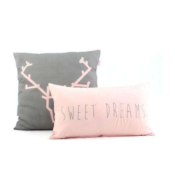 Komplet 2 poszewek na poduszkę Sweet Dreams