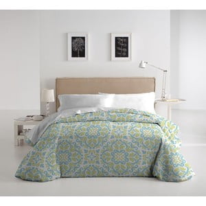 Zestaw pościeli i poduszki Romeria Verde, 140x200 cm