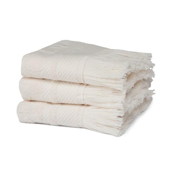 Komplet   3 ręczników Grace Cream, 30x50 cm