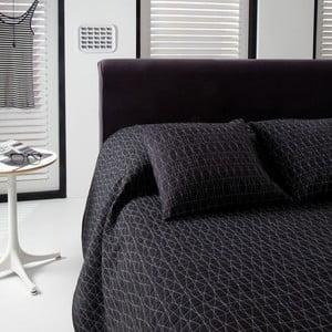 Narzuta na łóżko Shape Black, 220x270 cm