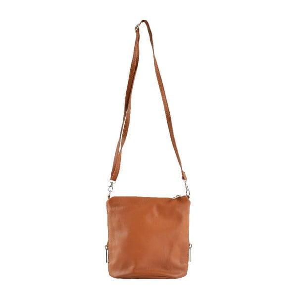 Skórzana torebka przez ramię Jeunnie, koniakowa