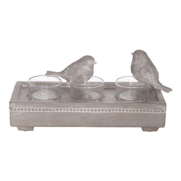Świecznik na 3 świeczki Birds