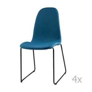 Zestaw 4 granatowych krzeseł sømcasa Helena