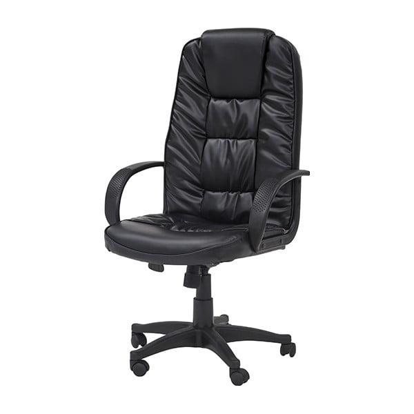 Krzesło biurowe na kółkach Pres, czarne