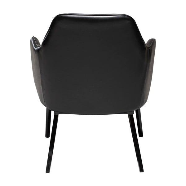 Czarny fotel ze skóry ekologicznej DAN–FORM Denmark Embrace