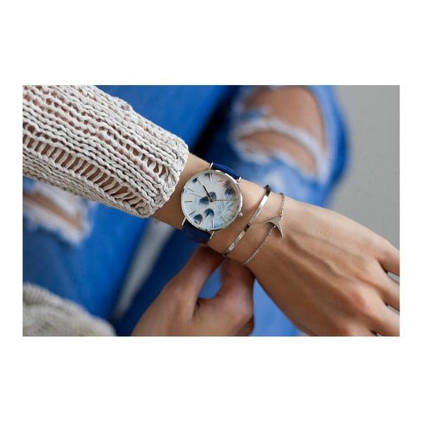 Zegarek damski z niebieskim paskiem ze skóry Emily Westwood Nataly